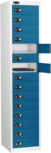 Probe Fifteen Door Blue Laptop Locker