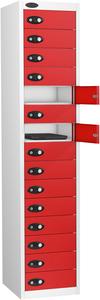 Probe Fifteen Door Red Laptop Locker