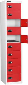 Probe Ten Door Red Laptop Locker