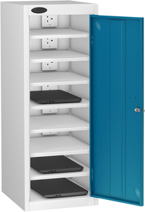 Probe Eight Bay Blue Laptop Locker (charging)