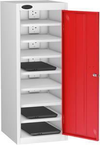 Probe Eight Bay Red Laptop Locker (charging)