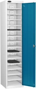 Probe Fifteen Bay Blue Laptop Locker (charging)