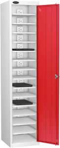 Probe Fifteen Bay Red Laptop Locker (charging)