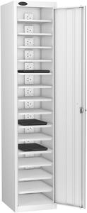 Probe Fifteen Bay White Laptop Locker (charging)