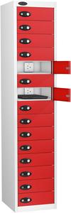 Probe Fifteen Door Red Laptop Locker (charging)