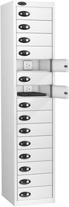 Probe Fifteen Door White Laptop Locker (charging)