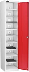 Probe Ten Bay Red Laptop Locker (charging)