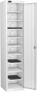 Probe Ten Bay White Laptop Locker (charging)