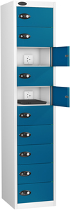 Probe Ten Door Blue Laptop Locker (charging)