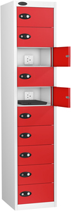 Probe Ten Door Red Laptop Locker (charging)