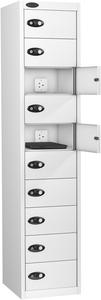 Probe Ten Door White Laptop Locker (charging)