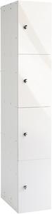 Probe 4 Door - White Glossbox Locker
