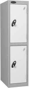 Probe 2 Door - White Low Locker