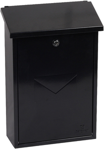 Phoenix Villa Black - Steel Post Box