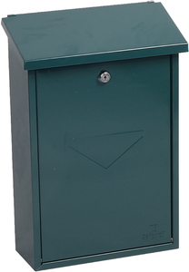Phoenix Villa Green - Steel Post Box