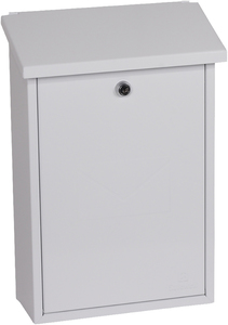 Phoenix Villa White - Steel Post Box