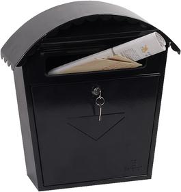Phoenix Clasico Black - Steel Post Box