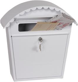 Phoenix Clasico White - Steel Post Box