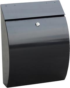 Phoenix Curvo Black - Steel Post Box