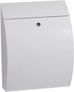 Phoenix Curvo White - Steel Post Box