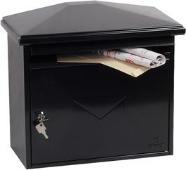 Phoenix Libro Black - Steel Post Box