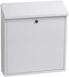 Phoenix Casa White - Steel Post Box