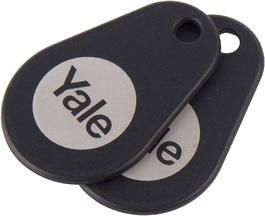 Yale Smart Lock Black Key Tag (Twin Pack)