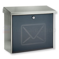 Burg Wachter Lucca Letter - Stainless Steel Post Box