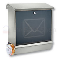 Burg Wachter Lucca Letter - Stainless Steel Post Box Set