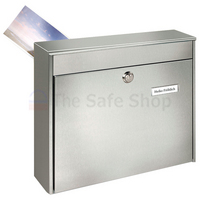 Burg Wachter Borkum - Rear Access Stainless Steel Post Box