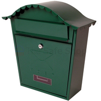 Sterling Classic Green - Steel Post Box