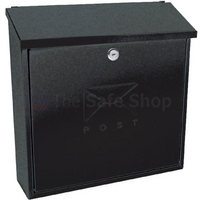 Sterling Contemporary Black - Dual Access Steel Post Box
