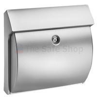 Burg Wachter Classico Silver - Plastic Post Box