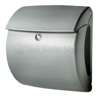 Burg Wachter Kiel Silver - Plastic Post Box