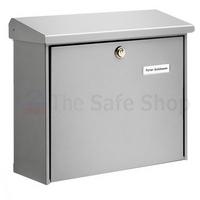 Burg Wachter Comfort Silver - Steel Post Box