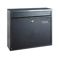 Rottner Hochhaus II Anthracite - Steel Post Box