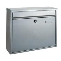 Rottner Hochhaus II Silver - Steel Post Box