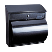 Rottner Wallersee Anthracite - Steel Post Box