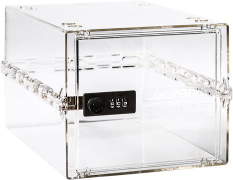 Lockabox Classic - Clear | LOC-CLCL by Lockabox Zoom  sc 1 st  Safe.co.uk & Lockabox Classic Clear | Lockable Clear Storage Box | Safe.co.uk