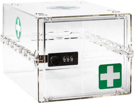 Lockabox Medical Clear Lockable Clear Medicine Box