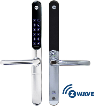 Yale Keyfree Connected With Z Wave Module Chrome Z Wave