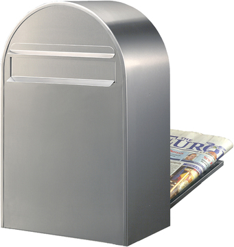 Rear Access Letter Box.Bobi Classic B Stainless Steel Letter Box Rear Slot