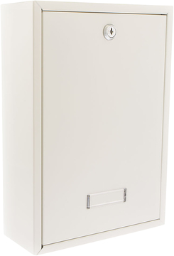 Forth White Rear Access Post Box   Front Door White Post Box