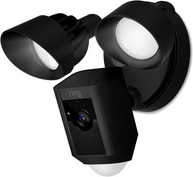 Ring Flood Light Camera Black Outdoor Security Lights Safe