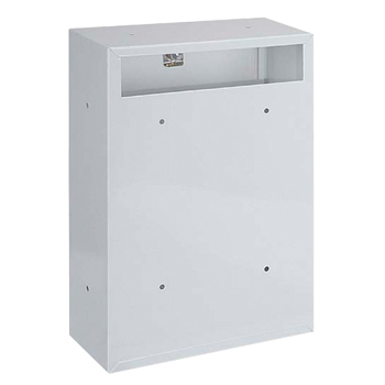 Indoor White Steel Rear Access Post Box   White mail box suitable ...