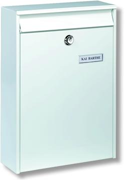 Leipzig White - Rear Access Steel Post Box
