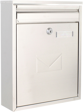 Rear Access Letter Box.Como Dual Access Stainless Steel Post Box