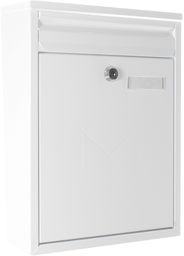 Rear Access Letter Box.Como Dual Access White Post Box Front And Rear Letterbox